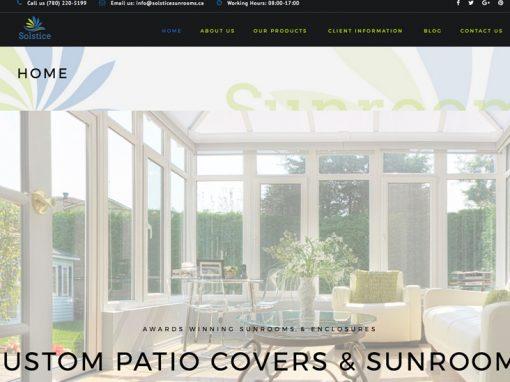 Solstice Sunrooms – Website Design