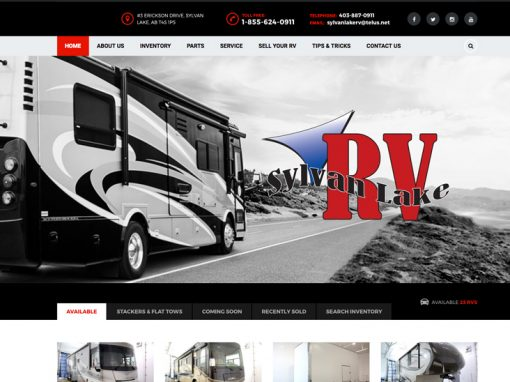 Sylvan Lake RV – Website Design