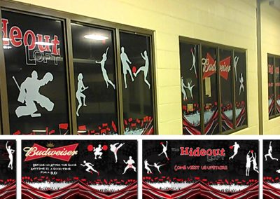 The Hideout – Window Graphics