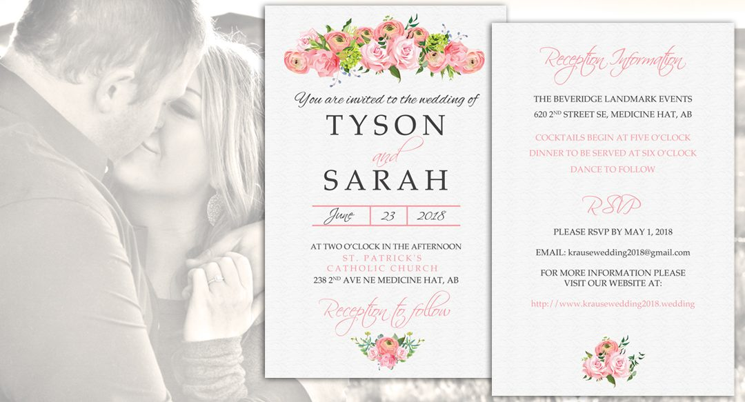 Sarah & Tyson Wedding Invitation