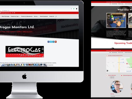 Electrogas Monitors Website Design 2018