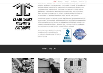 Clear Choice Exteriors – Website Design