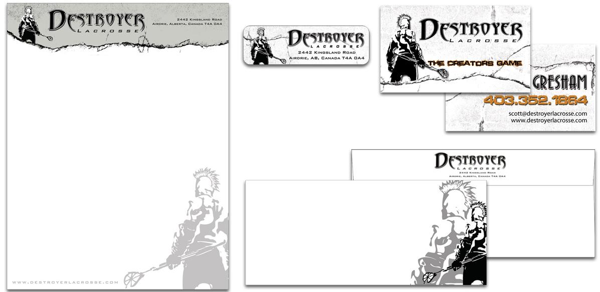 Destroyer_Lacrosse_Branding_Custom_Stationery_Arktos_Graphics