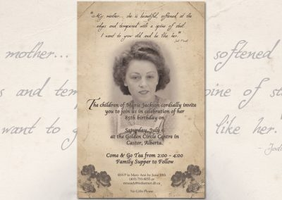 Grandma's Birthday Invitation
