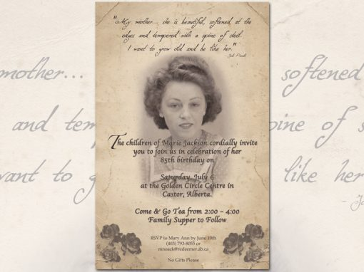 Grandma's Birthday Invitation