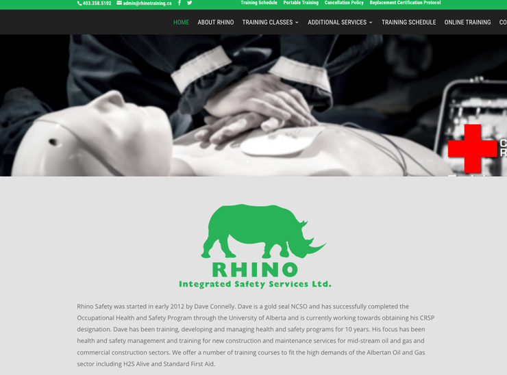 Rhino Integrated Safety Services – Website Design