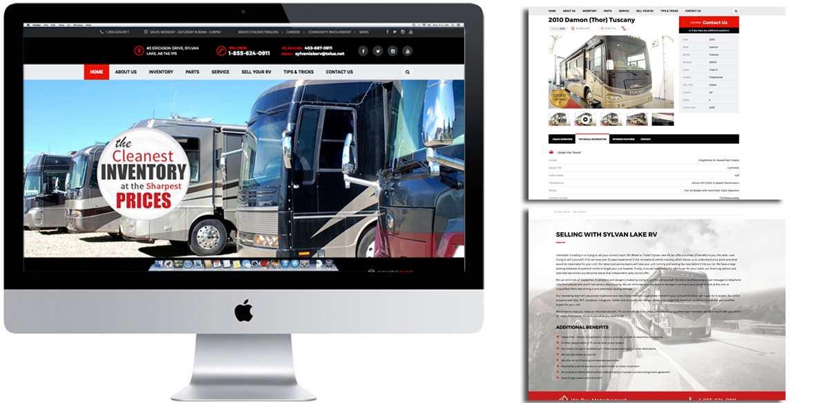 Sylvan_Lake_RV_Website_Design_Arktos_Graphics
