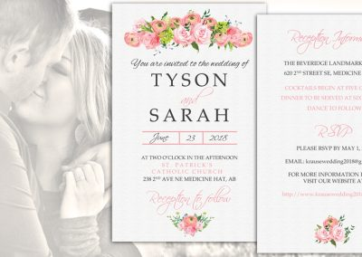 Sarah & Tyson Wedding Invitation