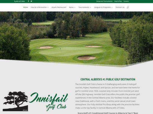 Innisfail Golf Association – Website Design