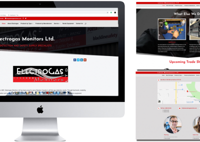 Electrogas Monitors Website Design 2018
