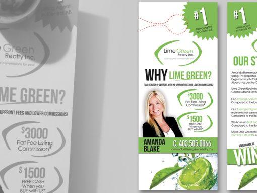 Lime Green Realty Inc. Door Hanger