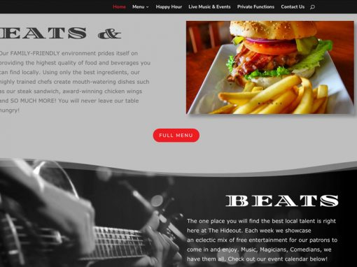 The Hideout Website Design