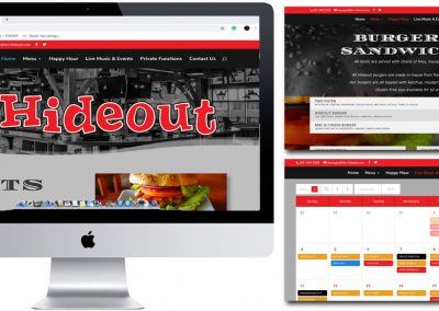 The Hideout Website Design