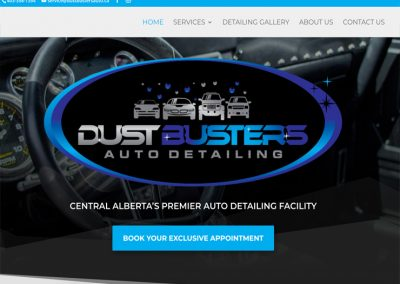 Dustbusters Auto Detailing – Website Redesign