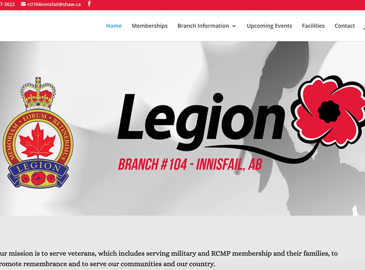 The Royal Canadian Legion Branch #104 – Website Redesign