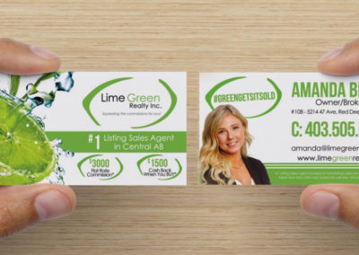 Lime Green Realty – Business Card Design