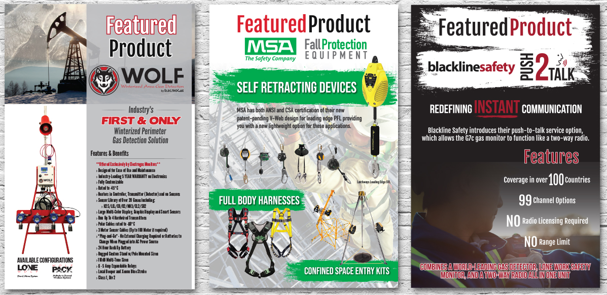 Poster Design - Featured Products by Electrogas Monitors - Red Deer, Alberta