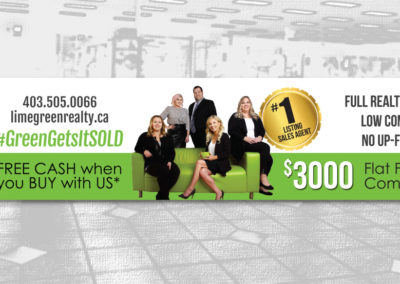 Lime Green Realty – Gym Banner Design
