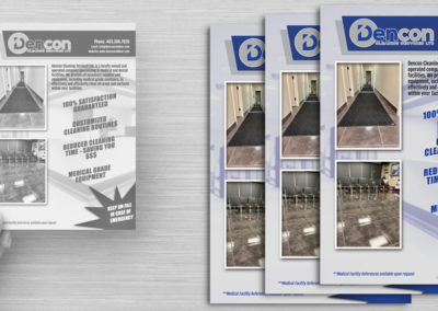 Dencon Cleaning Services – Postcard Design