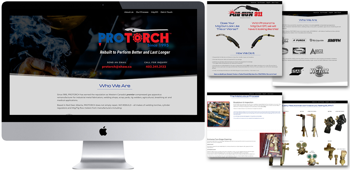 ProTorch - Website Design - Arktos Graphics - Red Deer, AB