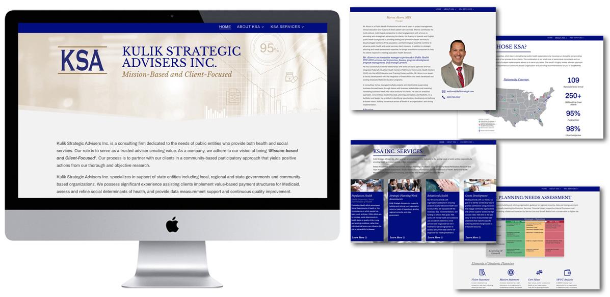 Kulik Strategic Advisers - Web Design - Arktos Graphics - Red Deer, AB