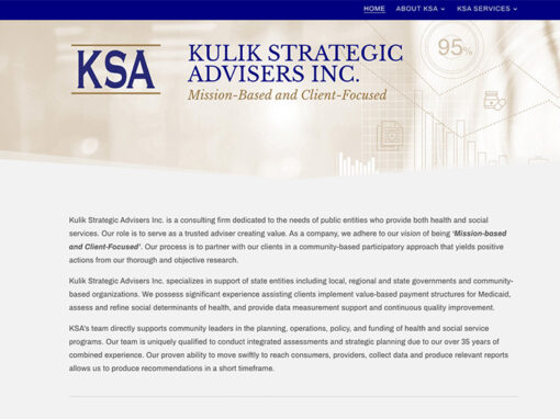 Web Design – Kulik Strategic