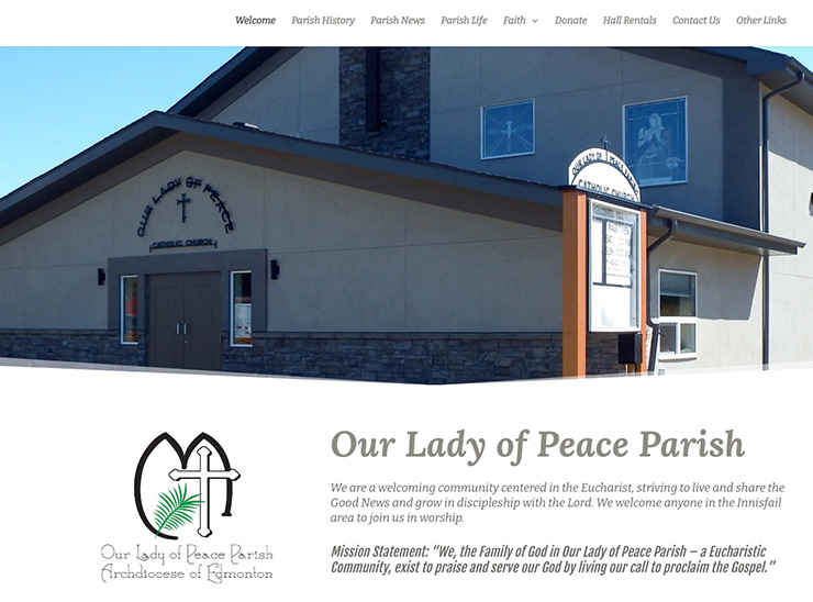 Web Design – Our Lady of Peace