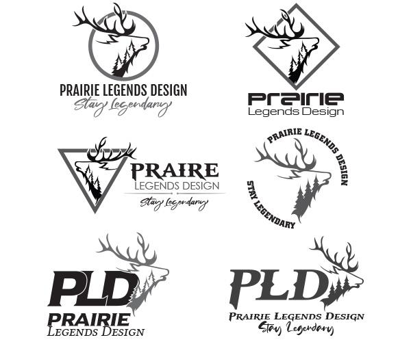 Logo Design - Prairie Legends Design - Arktos Graphics - Red Deer, Alberta