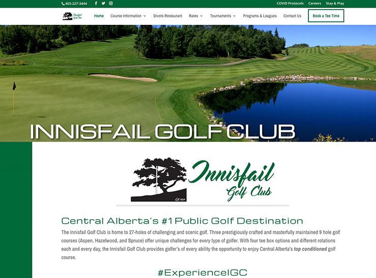Website Redesign – Innisfail Golf Club