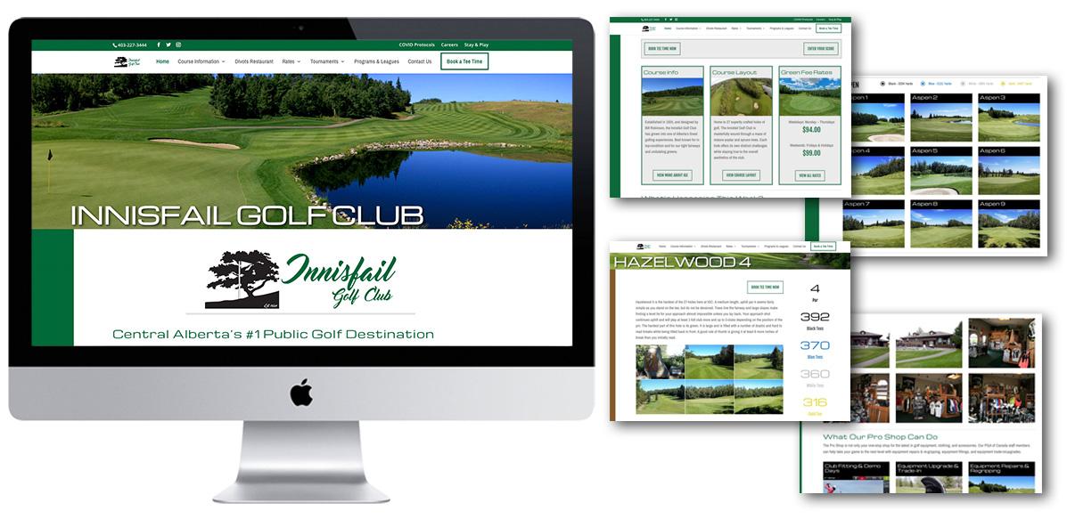 Innisfail Golf Club - Web Redesign - Arktos Graphics - Red Deer, AB